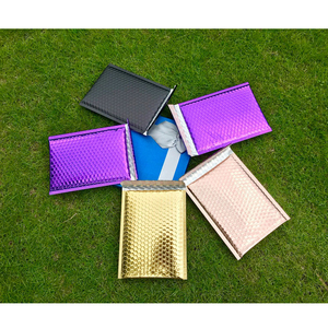 Image 5 - Venda quente de 25 polegadas de ouro rosa colorido, bolha vermelha 7x9 polegadas pacote de envelopes acolchoados cd à prova d água bolsa para presentes 18x23cm