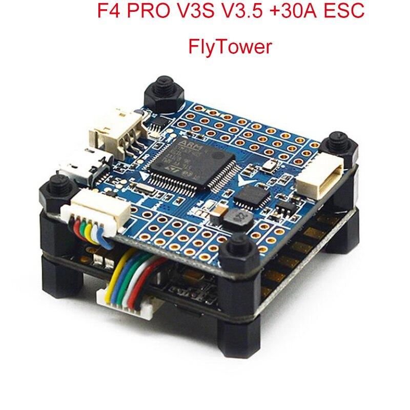 Betaflight F4 PRO V3S V3.5 управление полетом Встроенная фильтрация изображений OSD 35A 4 в 1 ESC Flytower для FPV радиоуправляемого дрона