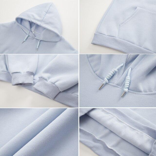 Women Hoodie Kawaii Couple Sweatshirt Cotton Long-sleeved Harajuku Hoodies Pocket Pattern Print Hoody Plus Size Korean Clothes 5