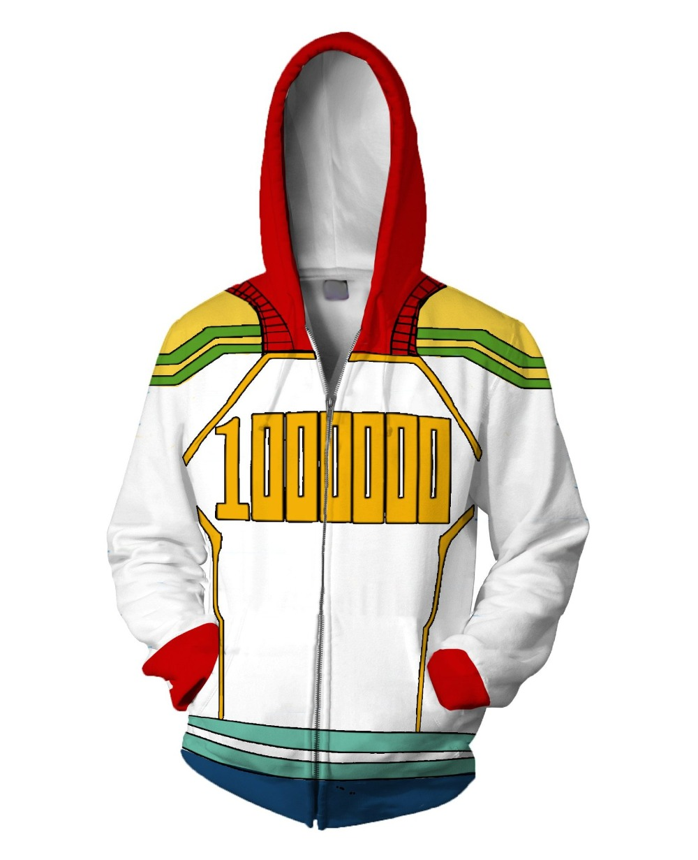 My Hero Academia All Roles Gym Suit Sports Wear Outfit <font><b>mirio</b></font> Hoodies <font><b>Cosplay</b></font> Costumes Fashion 3D zipper Hoodie Sweatshirts image