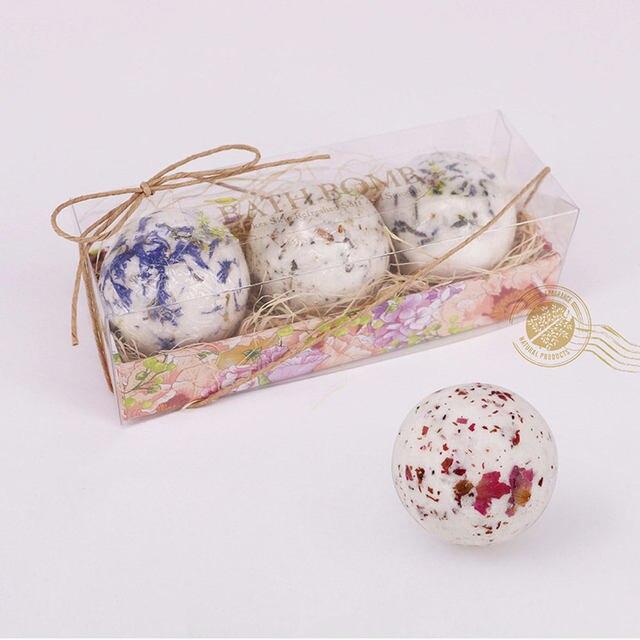 Bath Salt Bombs Bubble Salts Ball Oil Sea Salt Handmade SPA Stress Bath Accessories Shower Salts 4