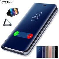 Smart Flip funda para Xiaomi Mi A3 Lite 9 SE 9T Pro CC9 CC9E Nota 10 Redmi S2 Y2 4 4X 5 6 6A 7 7A 8 8A 8T K20 espejo cubierta del teléfono