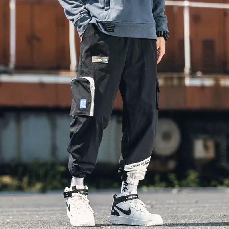 Men Casual 2019 Streetwear Joggers Cargo Pants Men Woman Hip Hop Pockets Pants Male Oversize Autumn Trousers|Cargo Pants|   - AliExpress