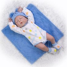 Boy bebe reborn doll full silicone vinyl body children gift playmate toy dolls can bathe detail painted(China)