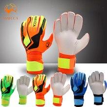 Профессиональные вратарские перчатки дешевые рулонные пальмовые футбольные Мягкие латексные футбольные вратарские перчатки с защитой пальцев