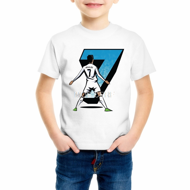 New Summer Style Cristiano Ronaldo Print 3d Kids/Baby T Shirt Casual T Shirts Street Wear Camisa Boy/Girl CR 7 Top Tee Z9-8