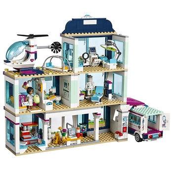 цена на New Girl Friends 41318 Heartlake City Hospital Christmas Set Building Block Bricks 41063 Princess Undersea Palace Block Toys