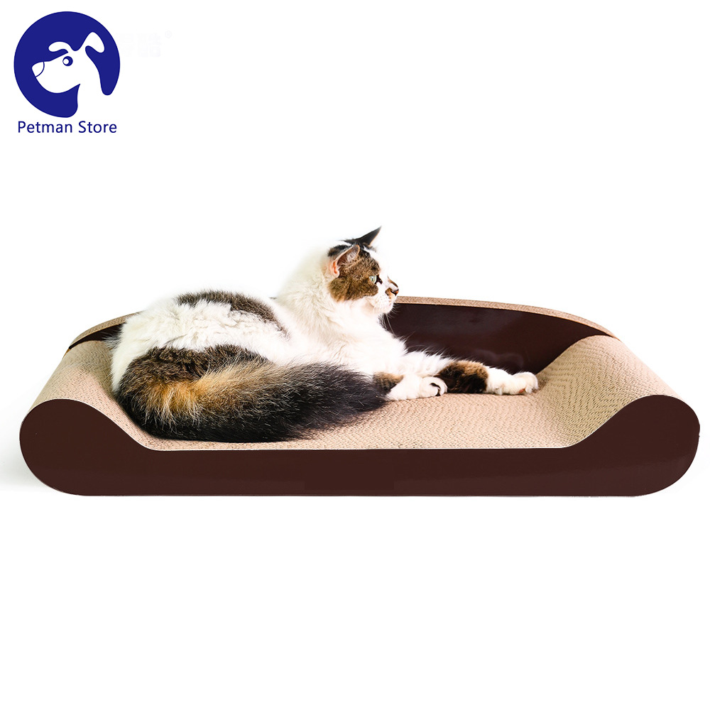 Cat Toy Pet Bed Lounge Scratcher Corrugated Board Christmas Gift Supplies For Cats