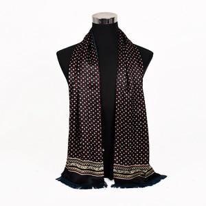Image 3 - [BYSIFA] New Maroon Male Silk Scarf Tie Thicken Fashion Top Grade 100% Silk Men Neck Scarf Winter Long Scarves Cravats 165*24cm