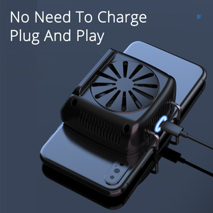 Image 5 - Mobile Phone Cooler Cooling Fan For IOS Iphone Android Huawei Sumsung Smartphone PUBG Game Holder Cooling Pad