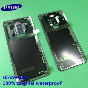 Image 4 - オリジナル新サムスンギャラクシー S9 プラス S9 + バックドア裏表紙カバーガラスバックの交換については、サムスン S9