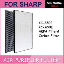 Para sharp FZ-A50HFE FZ-A50DFE substituição purificador de ar hepa & filtro desodorização para KC-A50E kc850e KC-BB30-W KC-W280SW KC-C100E