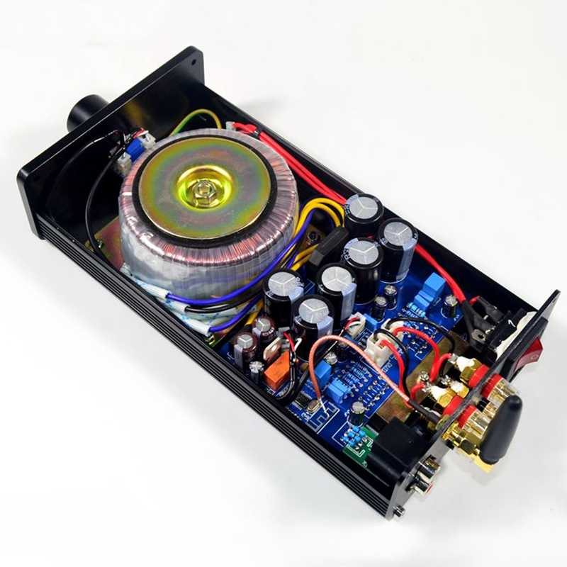 Lm3886 Dual Channel Class Bluetooth 4.2 Audio Stereo High Power Amplifier Hifi 40W+40W Home Aluminum Enclosure