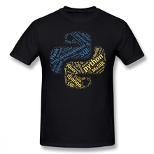 Developer T Shirt Python Programmer T Shirt T Shirt Basic Short Sleeves Tee Shirt Plus Size Male Tshirt
