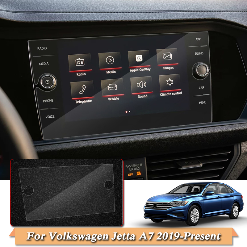 Car Styling Display Film <font><b>GPS</b></font> Navigation Screen Glass Protective Film For Volkswagen Jetta <font><b>A7</b></font> 2019- Control of LCD Screen Film image