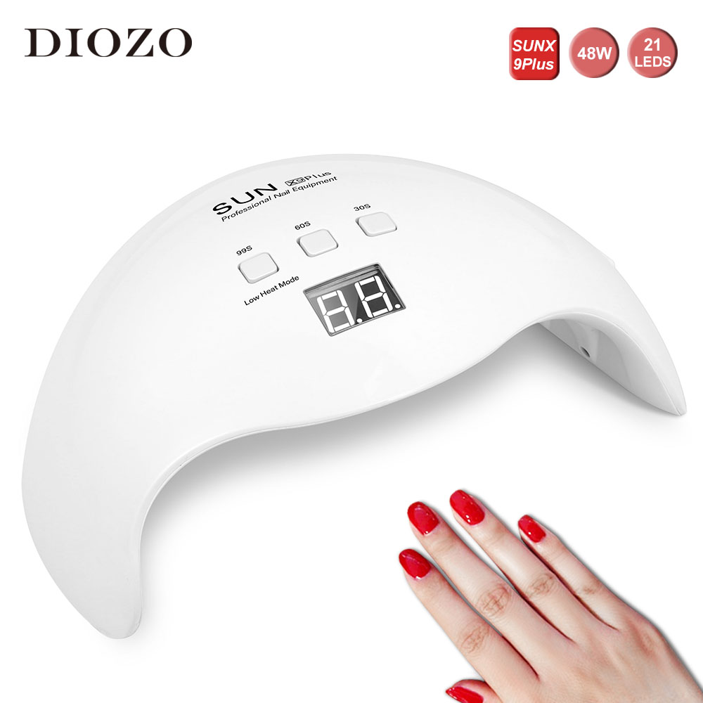 DIOZO SUN X9plus 48W/54W/36W Led UV Lamp Nail Manicure Set Gift Quick Dry Nail Lamp Automatic Sensing Manicure Tools