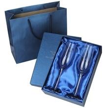 Горячие 2 шт Свадебные стеклянные es персонализированные шампанские флейты кристаллические вечерние подарочные бокалы