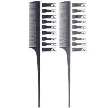 Peine removible para el cuidado del cabello, multifunción, para barbería, 1 unidad