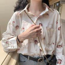 Houzhou блузка хараджуку для женщин 2020 рубашка с принтом ангела