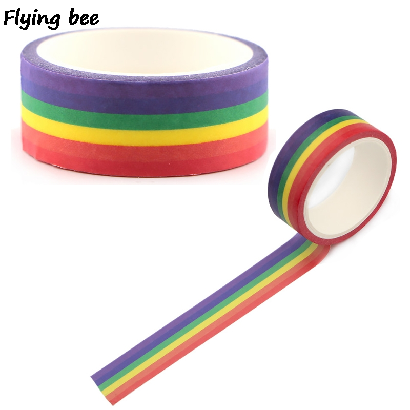 20pcs/lot Flyingbee 15mmX5m Homosexual Love Washi Tape Paper DIY Planner Masking Tape Gay Adhesive Tapes Stickers Tapes X0497