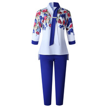 2piece-Sets Dashiki-Sleeve Baggy-Pants Famous-Suit Bazin Rock-Style Women for New African-Print