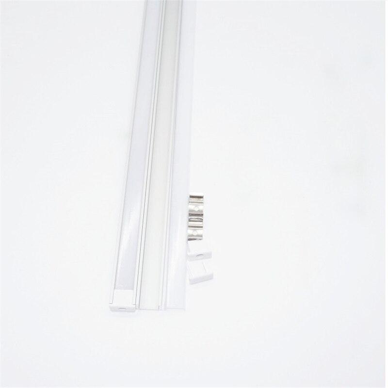 Image 4 - 20inch 0.5m/pc, LED aluminum profile matte diffuser flat ultra slim led channel for 12mm pcb,5V 12V 24V tape light housing-in LED Bar Lights from Lights & Lighting