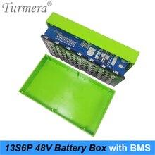 Turmera علبة بطارية ليثيوم للدراجة الكهربائية ، 13S6P ، 48 فولت ، مع 15 أمبير ، 20 أمبير ، BMS ، مع حامل وشريط نيكل
