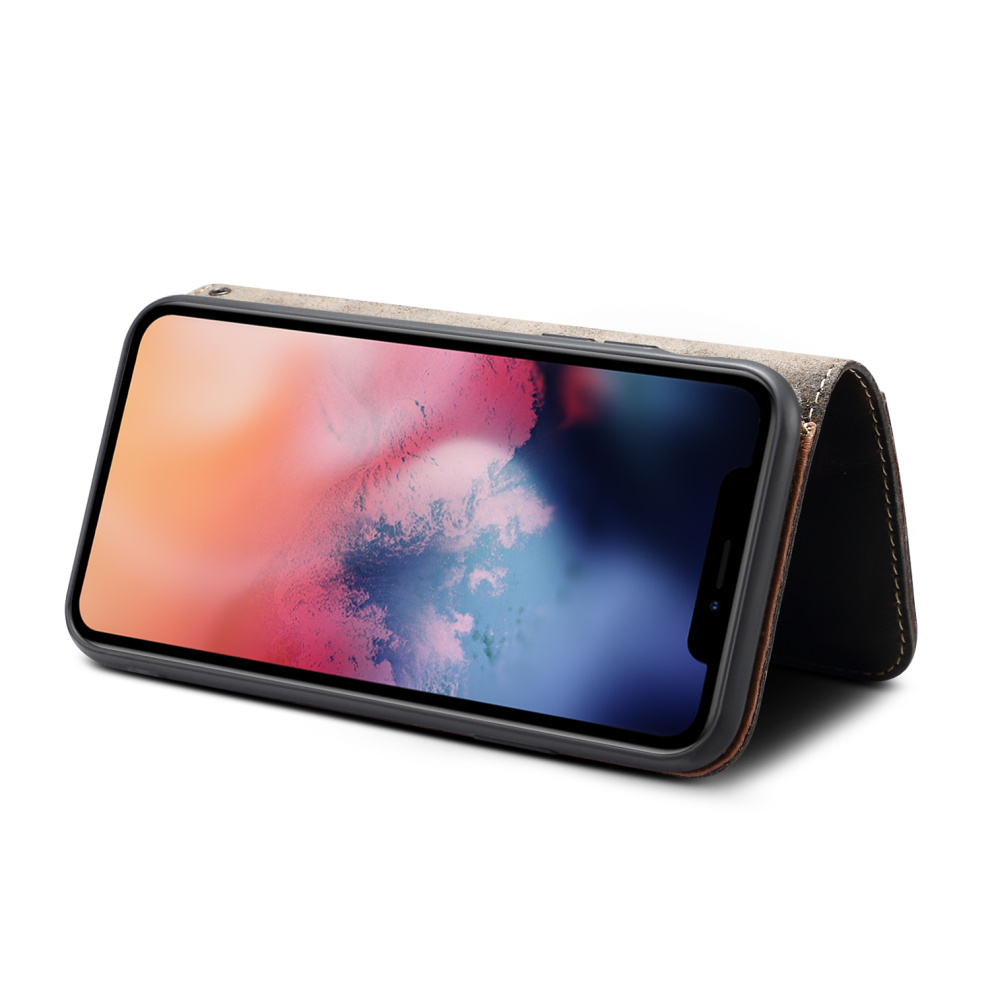 Premium Leather Magnet Button Flip Strap Case for iPhone 11/11 Pro/11 Pro Max 63