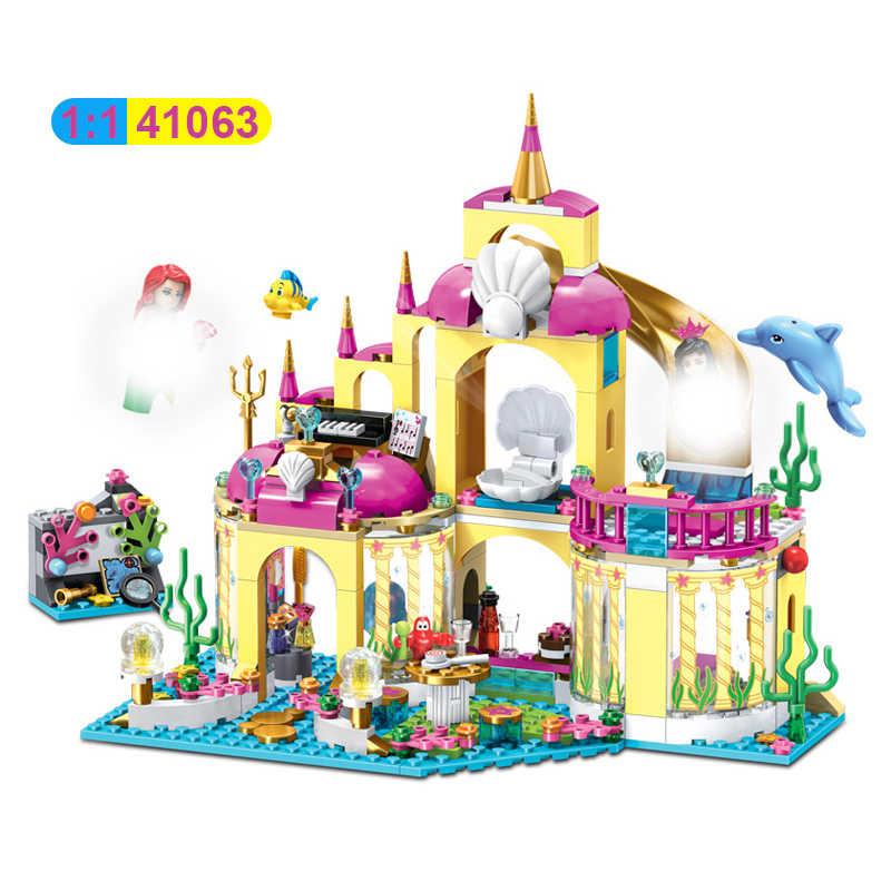 Figuras de Elsa de princesas de bloques de construcción, Lepining de 41063, casa de amigos, Hotel, Castillo de Heartlake, juguetes de ciudad para niños y niñas