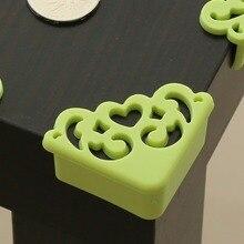 4 шт./лот, мягкий защитный уголок для детей с цветочным узором, защитная накладка на угол стола, защита для детей