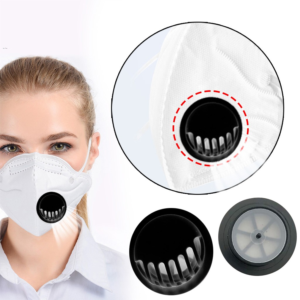 50pc Black Outdoor Anti-dust Face Mouth Filter Air Breathing Valves Replacements Anti Haze Air Breathing Valves Accessories