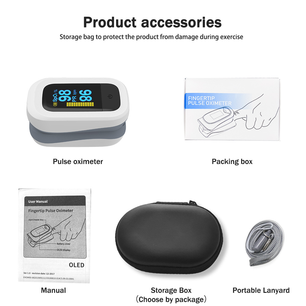 YONGROW Medical Fingertip Pulse with Sound and Light Alarm and OLED Display 11