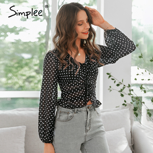 Image 4 - Simplee Sexy v neck long sleeve boho women blouse shirts Holiday beach summer chic short tops Elegant female blouses shirts