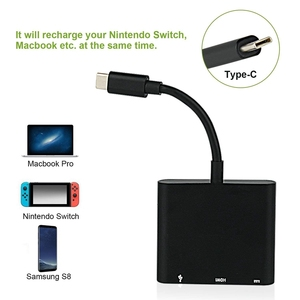 Image 5 - HOT HMDI USB C Hub Adapter for N intendo Switch, 1080P Type C to HDMI Converter Dock Cable for Nintendo Switch
