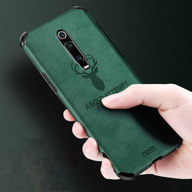 For Xiaomi Mi 10 Pro 9 9T Redmi Note 7 8 K20 K30 POCO X2 Case Embossing Leather Shockproof Full Protection Soft Back Cover Funda
