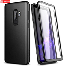 Luxury 360 Full Protect Case For Samsung Galaxy s9 s10 s10e note 9 note 10 Plus Case For Samsung s20 Plus Ultra Cover With Film