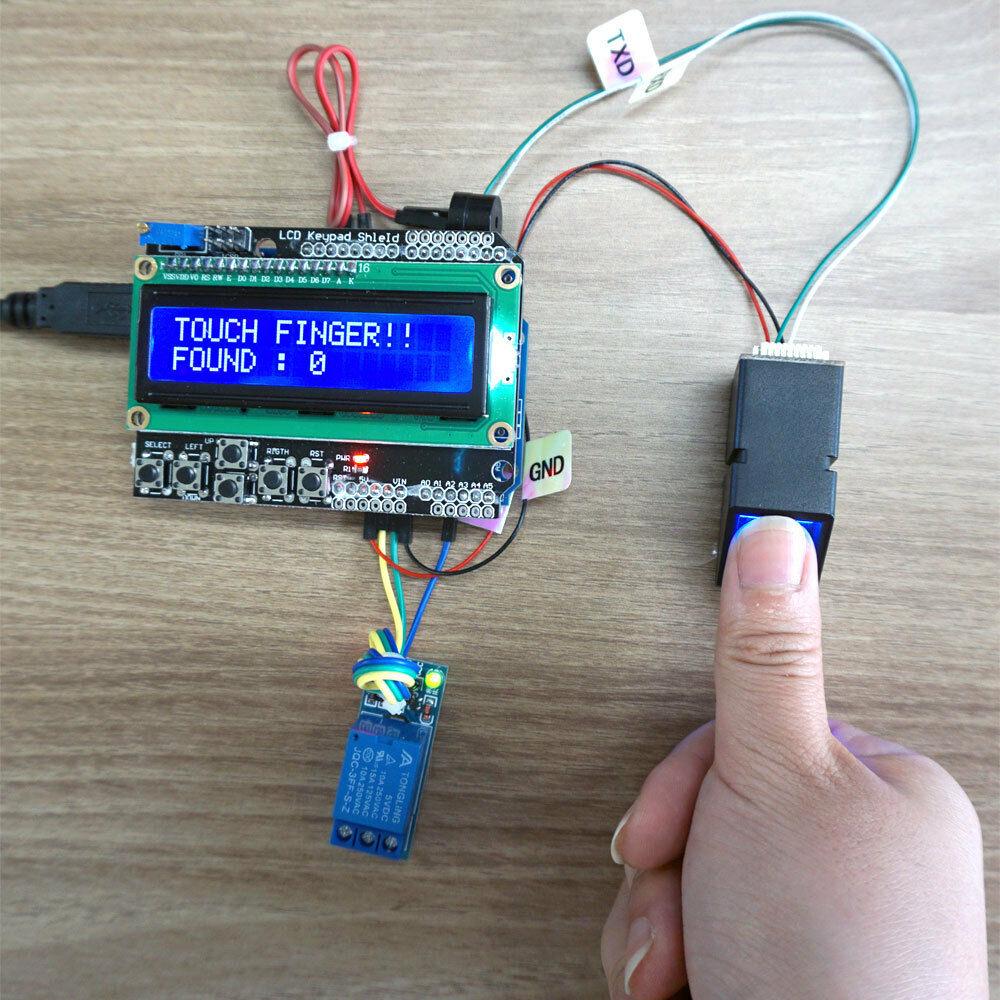 SAFE1 for Arduino Optical Fingerprint Scanner Kit sensor DIY AS608 FPM10A Compatible