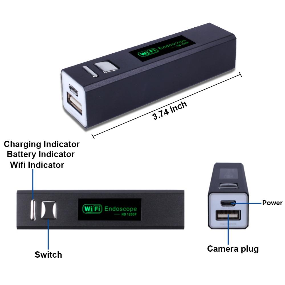 Эндоскоп камера Wifi 1200P HD мини Водонепроницаемый эндоскоп бороскоп Регулируемый 8 светодиодов 8 мм IOS и Android USB камера для осмотра