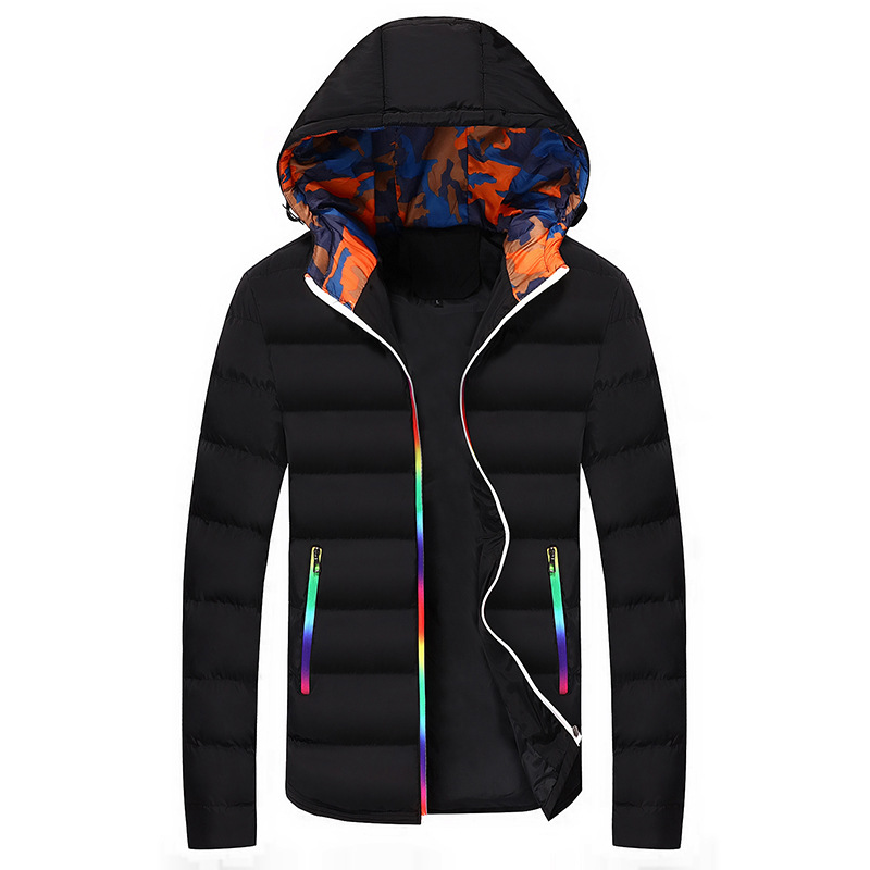 Thick Snow-outwear For Male With Hooded Winter Warm Down Jacket Men Black Casual Full Sleeve Duck Down Over Size 3XL 4XL