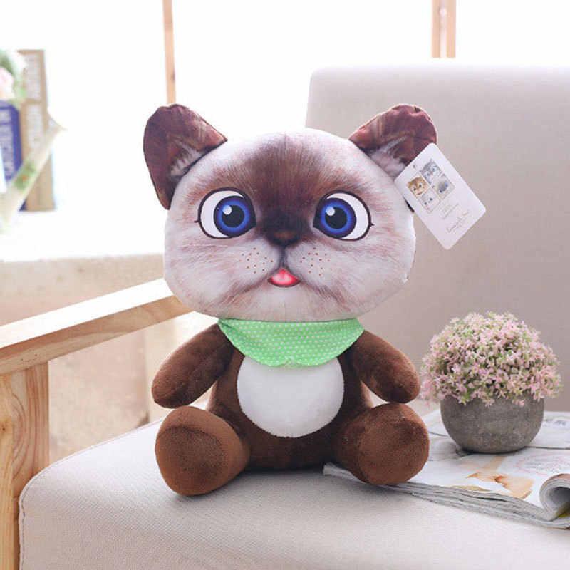 20cm 귀여운 소프트 3D 시뮬레이션 박제 고양이 장난감 양면 좌석 소파 베개 쿠션 Kawaii 플러시 동물 고양이 인형 장난감 선물