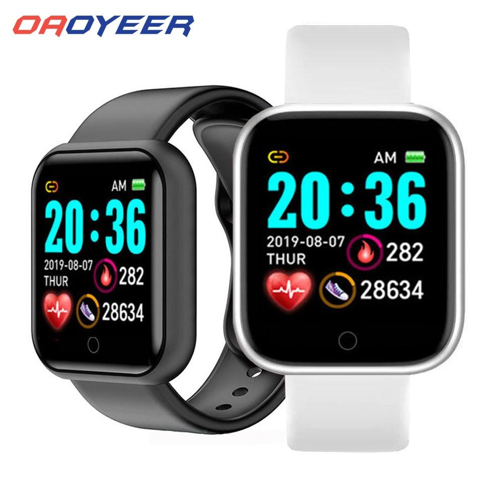 Новый спортивный смарт-браслет Y68 для фитнеса, измерения артериального давления, пульса, сообщений, напоминаний, Android, шагомер, Смарт-часы 1