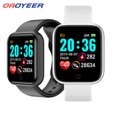 Yeni Y68 akıllı bilezik bileklik spor spor kan basıncı nabız mesaj hatırlatma Android pedometre kordon akıllı saat