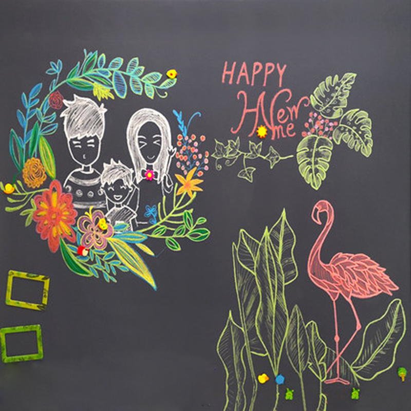 45*200cm Blackboard Stickers Wall Removable Vinyl Draw Decor Multifunction Erasable Learning Chalkboard  Supplies For Kids Rooms