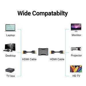 Image 3 - Przedłużacz HDMI Adapter HDMI złącze żeńskie do żeńskiego 4k HDMI 2.0 Adapter przedłużający do kabla PS4 Monitor HDMI