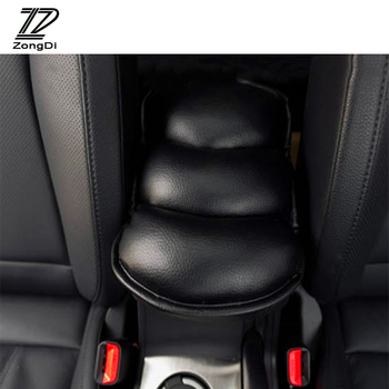 ZD 1pcs Car Styling Armrests Center Console Cover Pad For Mercedes W203 W211 W204 W210 AMG Benz BMW F10 E34 E30 F20 X5 E70 E39 image