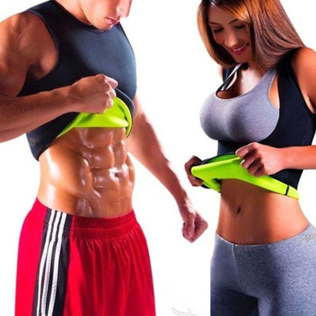Men and Women Waist Trainer Slimming Corset Sweat Sauna Vest Body Shaper Gym