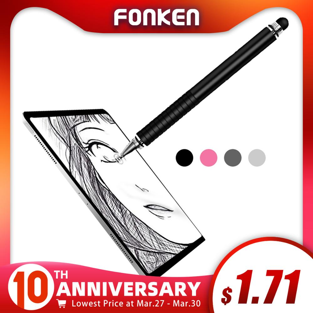 FONKEN Stylus Pen For Ipad Tablet Pens Drawing Pencil 2in1 Dual Written Capacitive Screen Touch Pen For Mobile Phone PC  Pens