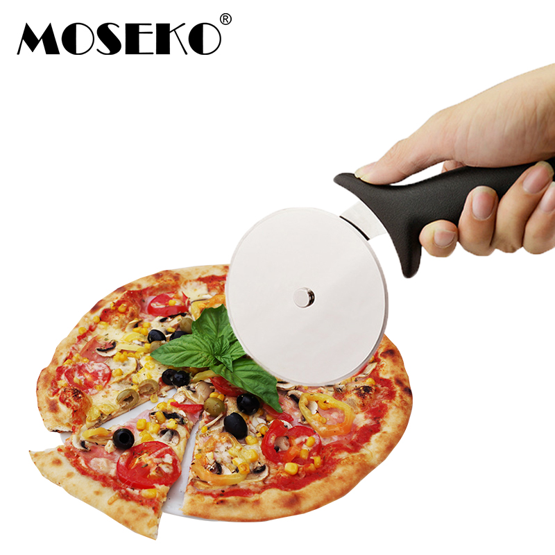 MOSEKO Stainless Steel Pizza Cutter Home Family Stainless Steel Pizza Knife For Pizza Tools Kitchen Tools Pizza Wheels