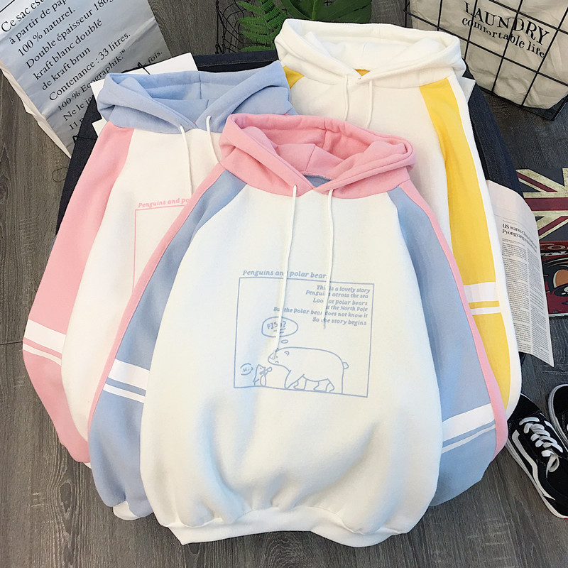 Autumn And Winter Furry And Thickened Sanitary Hoody Women's Hoodies 2019 New Korean Edition Students'Loose Long Sleeve Jacket