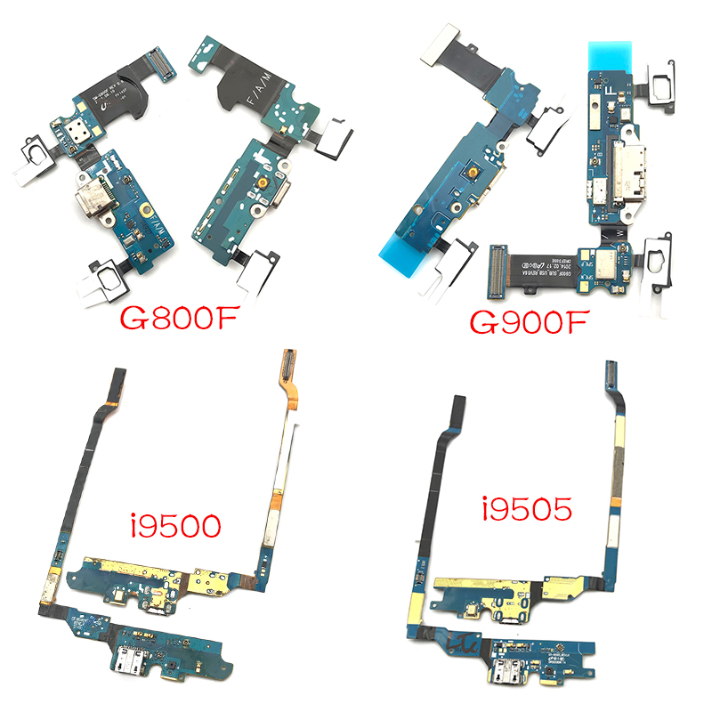 USB Charging Port Board For Samsung Galaxy S4 S5 Mini I9500 I9505 I337 I9190 G900F G800F Charger Connector Dock Flex Cable